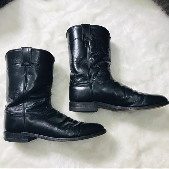 8f7587800eb Justin Boots Men's Jackson Roper Black Size 11